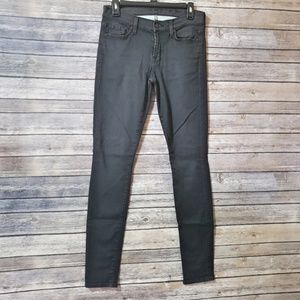 29 7FAM Gwenevere Black High Waist Skinny Jeans